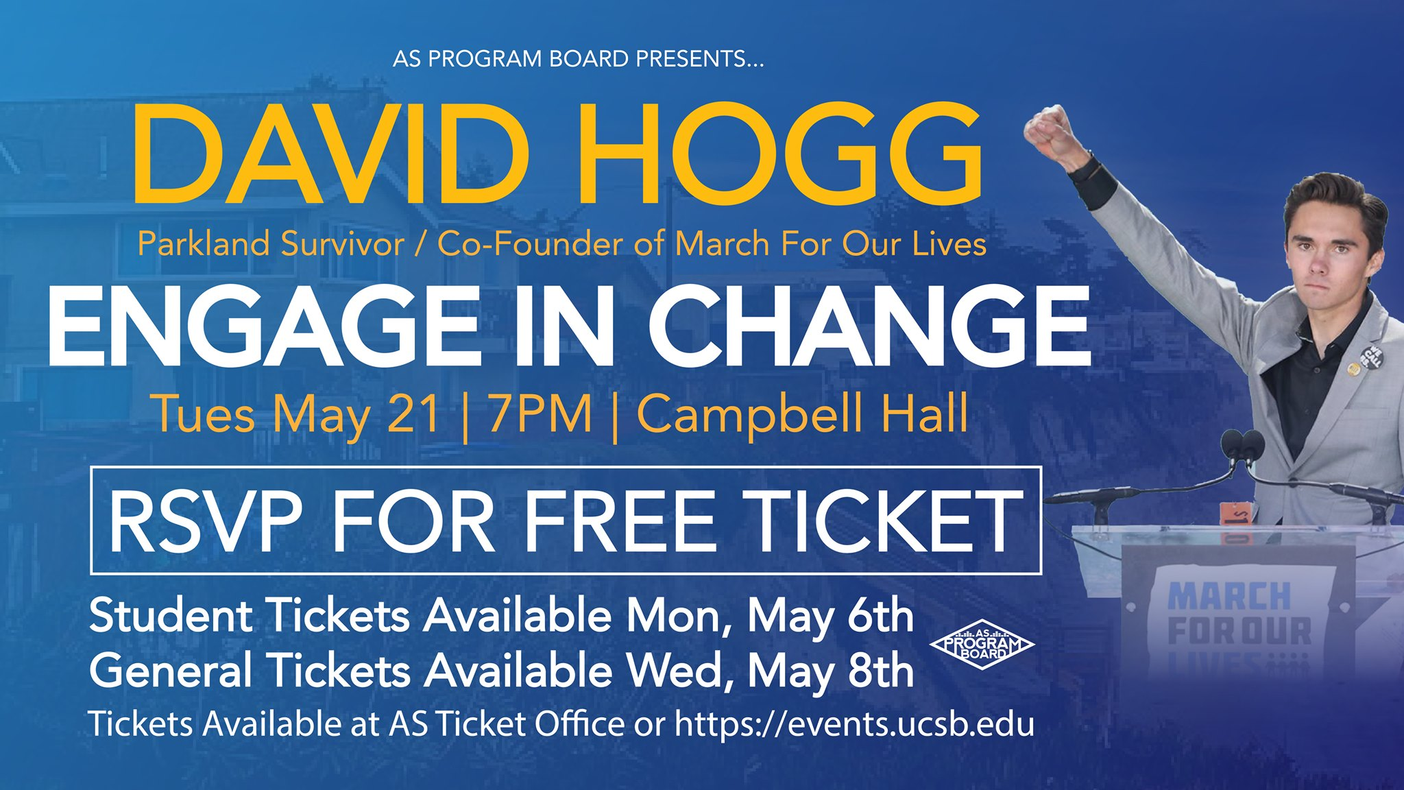 Free Tickets Available For Students To >> Spring 2019 Week 6 Associated Students Ucsb